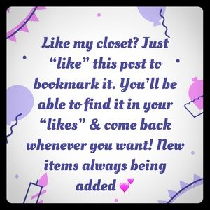 Other - Bookmark My Closet!